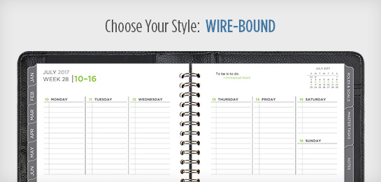 Choose Your Style: Wire-bound