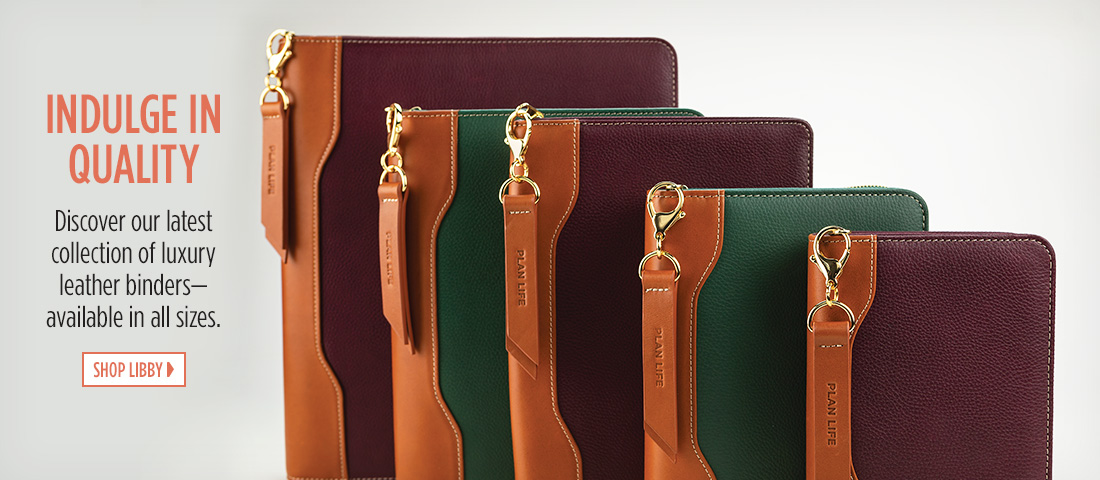 Indulge In Quality - Discover our latest collection of luxury leather binders – available in all sizes