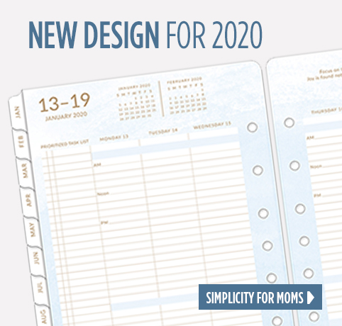 New Design for 2020, Simplicity For Moms
