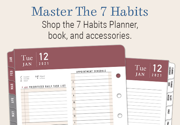 Shop the 7 Habits planner, book, and accessories