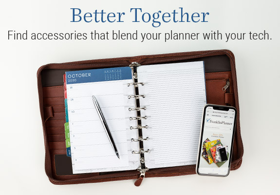 Find accessories that blend your planner with your tech