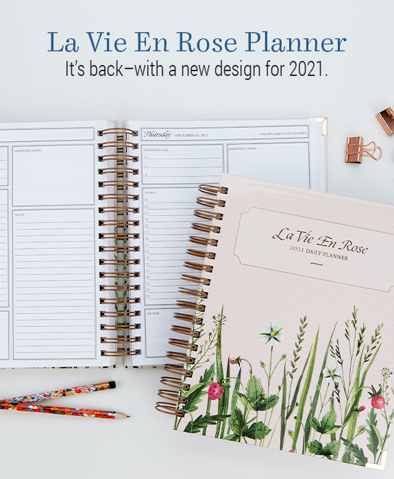 The La Vie En Rose Planner is back with a fresh new look for 2021
