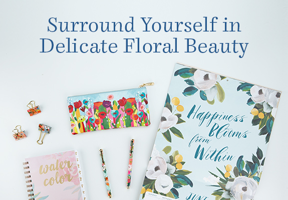 Shop our Floral Collection and surround yourself in delicate beauty.