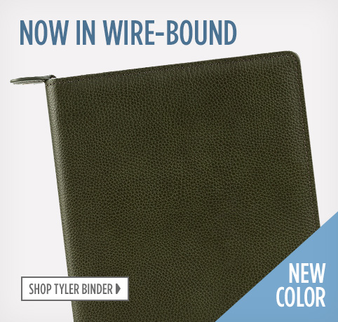 Tyler Binder is now available as a wire-bound cover