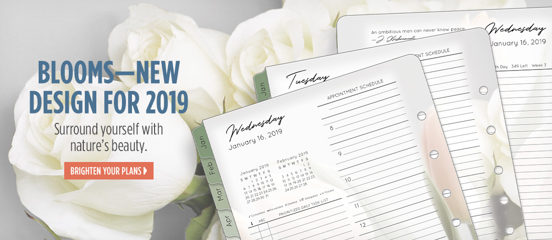 Blooms planner. New design for 2019