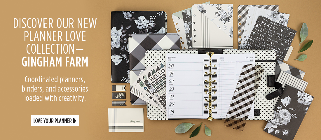 Introducing our new Planner Love Collection, Gingham Farm - Coordinated planners, binders, and accessories loaded with creativity. Love Your Planner