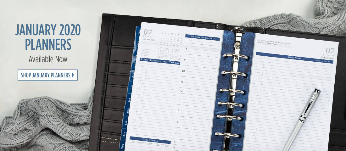 January 2020 Planners Available Now