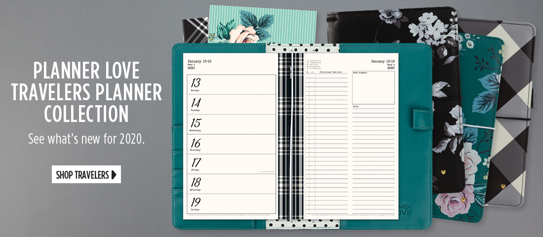 Planner Love Travelers Planner Collection - See whats new for 2020