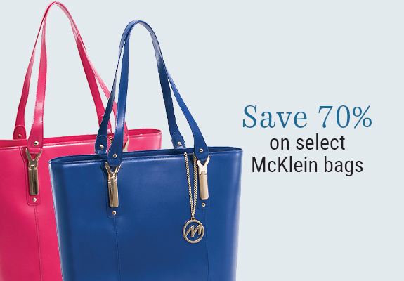 70% off select McKlein Bags
