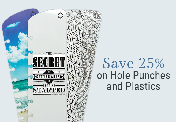 25% off hole punches and plastics
