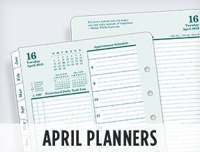 April Planners