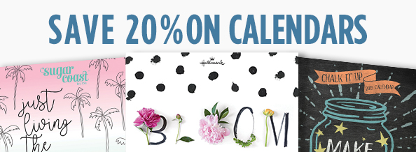 Save 20 Percent on Calendars