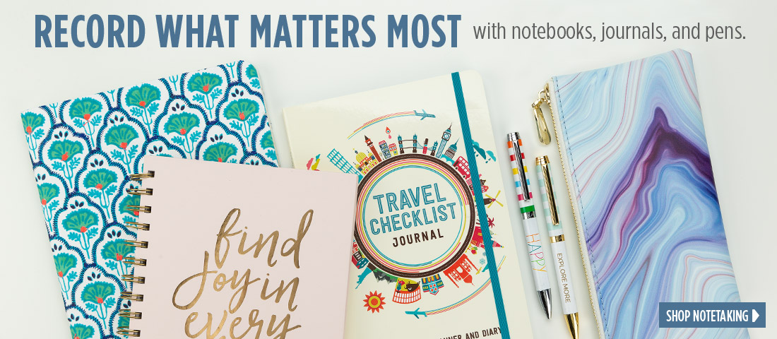 Record what matters most with notebooks, journals, and pens