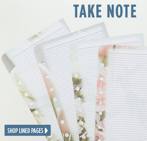 Take Note - Shop lined pages