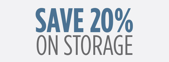 SAVE 20 Percent on Storage