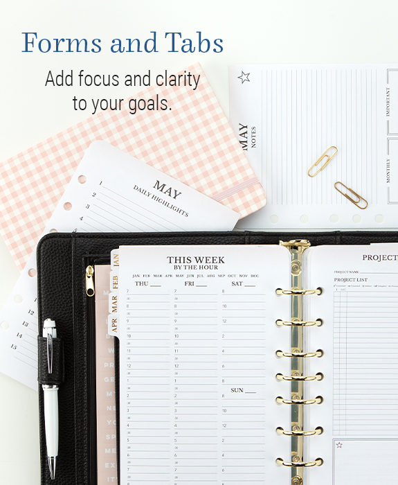Forms and Tabs. Add focus and clarity to your goals.