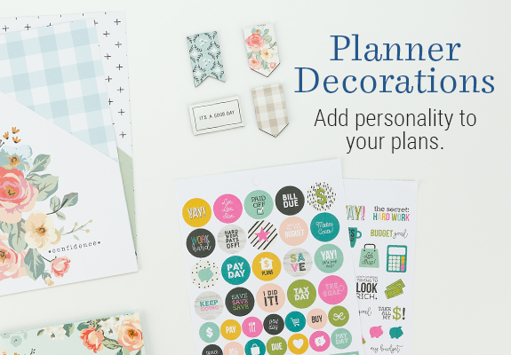 Planner Decorations. Add personality to your plans.