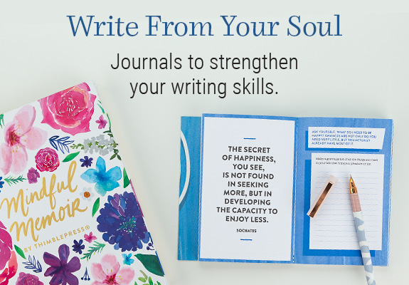 Shop journals. Strengthen your writing skills and your memories.