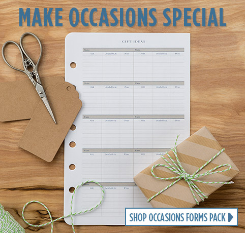 Make Occasions Special - Shop Occasions Forms Pack