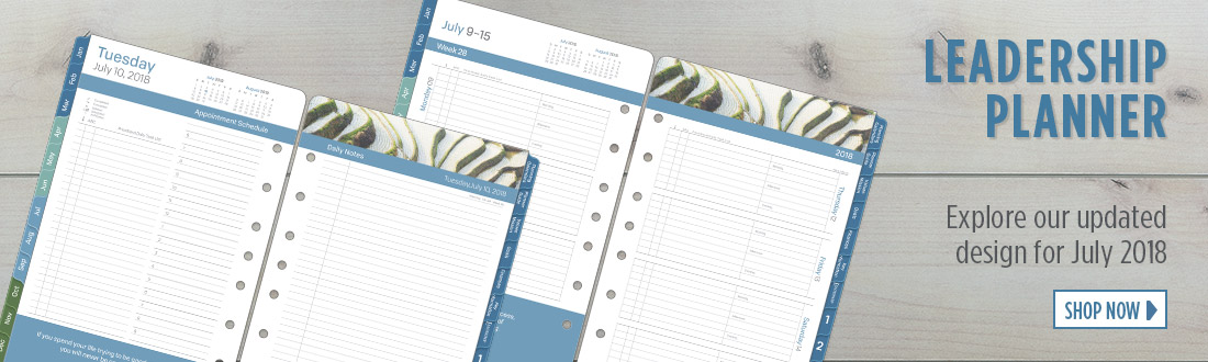 Leadership Planner - Explore our updated design for July 2018 - Shop Now