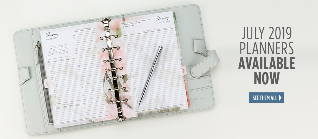 July 2019 planners are available now