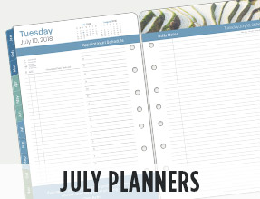 July Planners