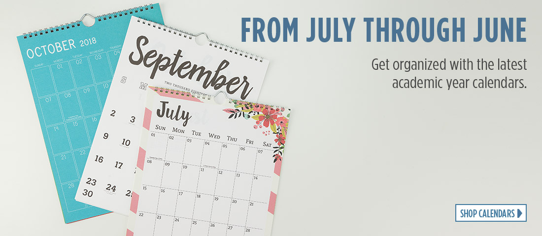 From July Through June - Get organized with the latest academic year calendars.