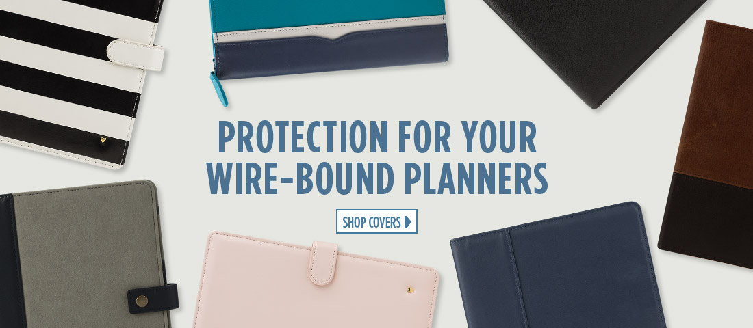 Protection for your wire-bound planners - Shop covers.