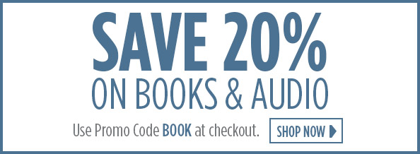 Save 20 percent on books and audio with promo code BOOK