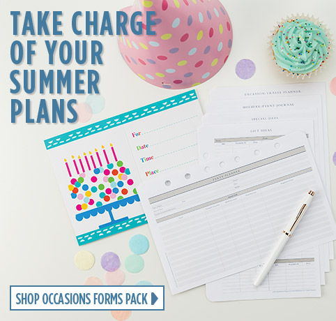 Take charge of summer with the occasions forms pack