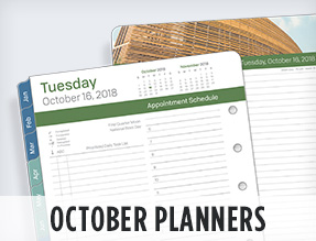 October planners
