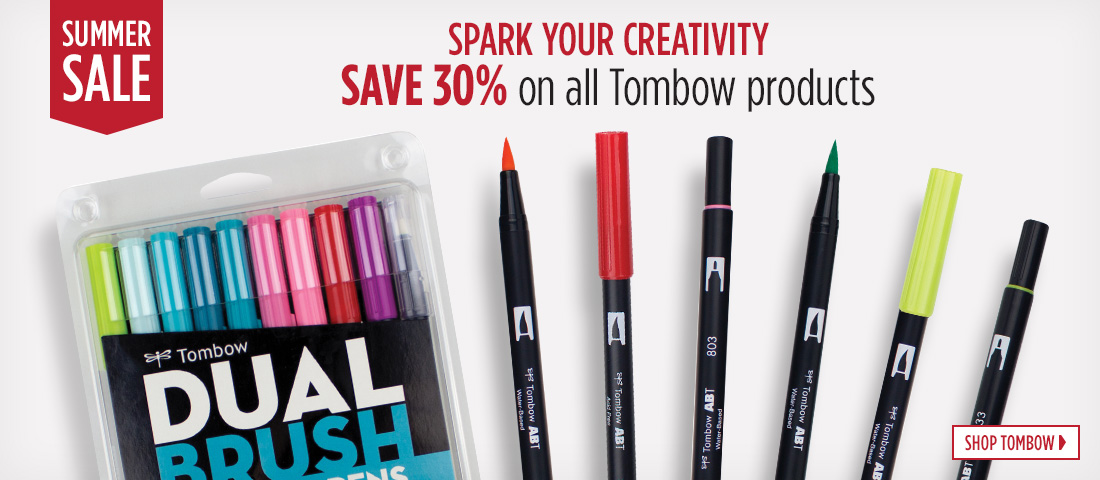 Summer Sale - Save 30 Percent on all Tombow products