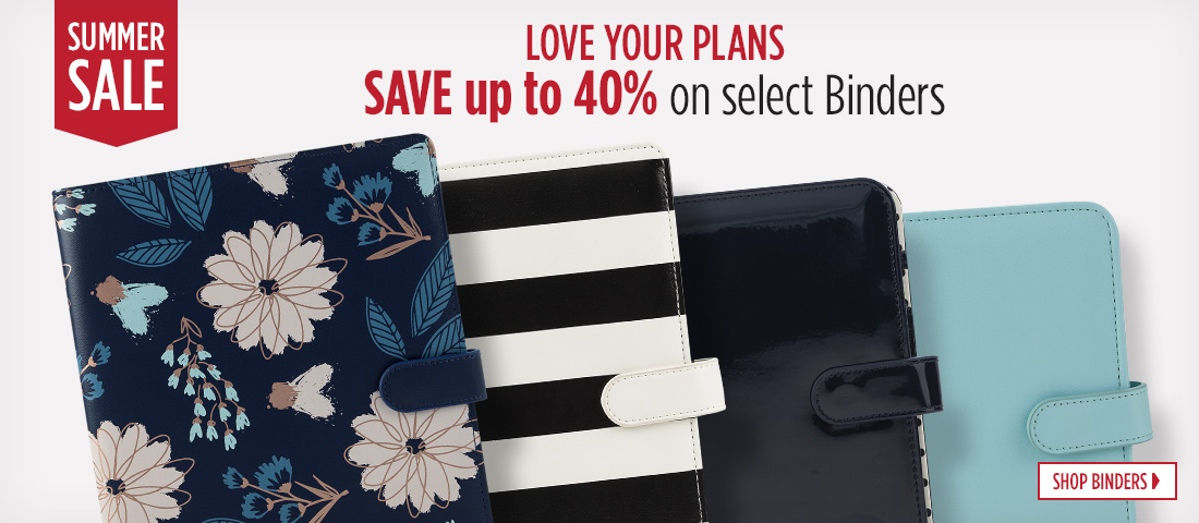 Summer Sale - Save 40 Percent on select Planner Love Binders