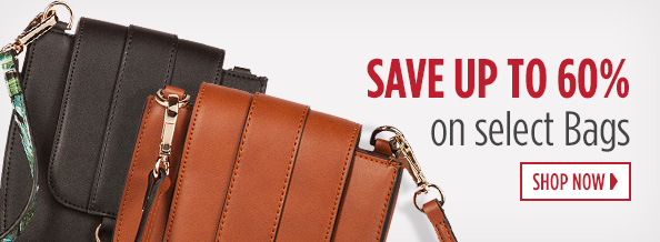 SAVE up to 60 Percent on select bags