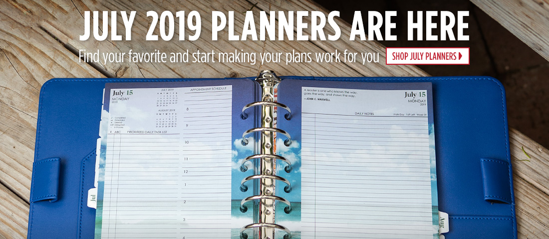 July 2019 Planners are here. Find a new favorite