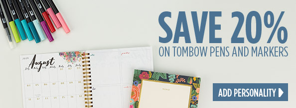 Save 20 Percent on Tombow pens and markers