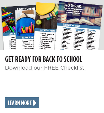 Get ready for back to school. Download our FREE checklist