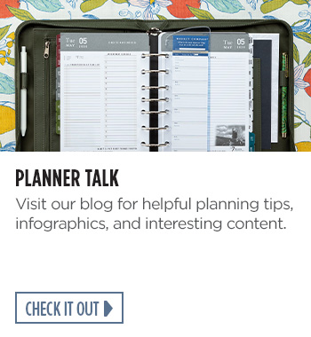 Planner Talk. Visit our blog for helpful planning tips, infographics, and interesting content. Check it out.