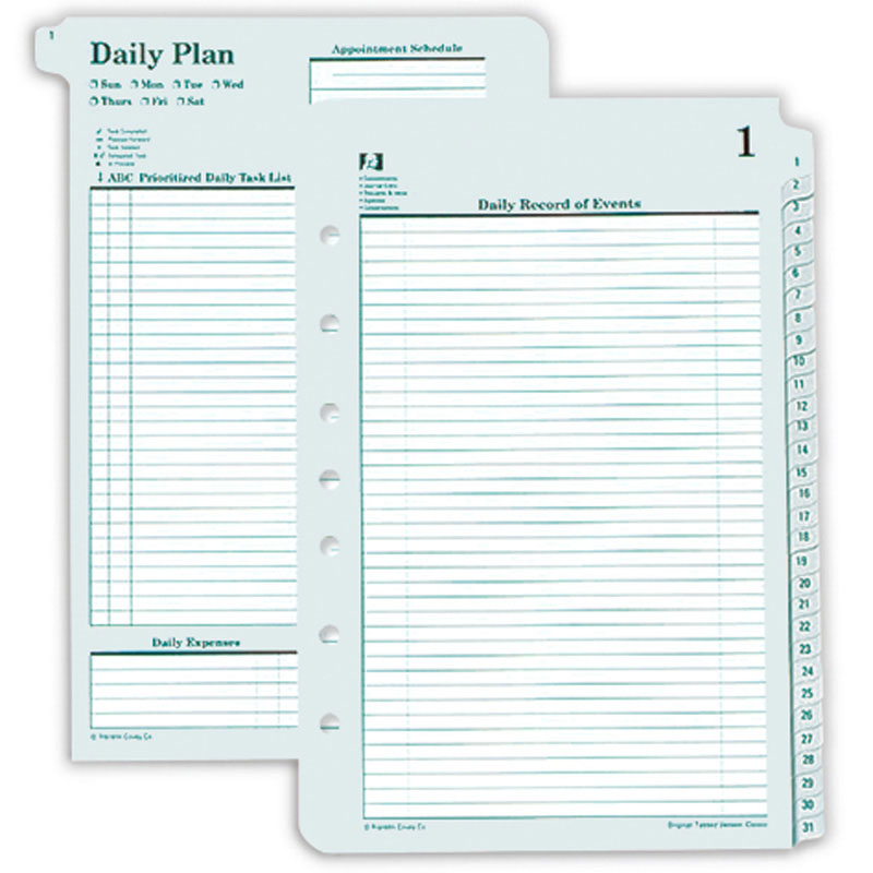 Classic Tabbed Original Daily Plans 1-31 (Single)