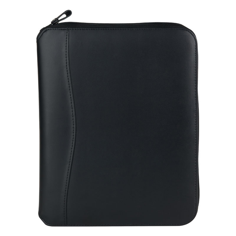 Classic FC Basics Spacemaker Vinyl Zipper Binder - Black