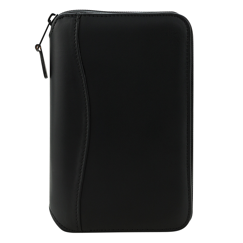 Pocket FC Basics Spacemaker Vinyl Zipper Binder - Black