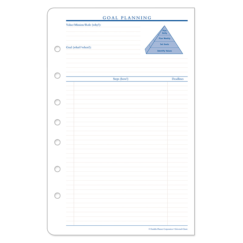Classic Goal Planning Forms