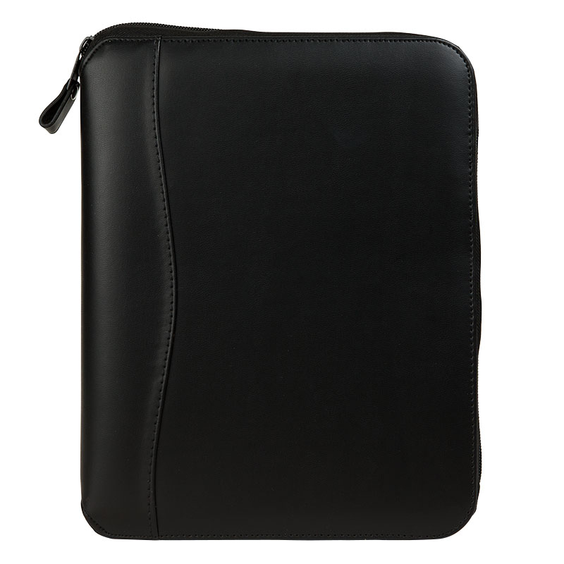 Classic Planning System Vinyl Zipper Binder - Black