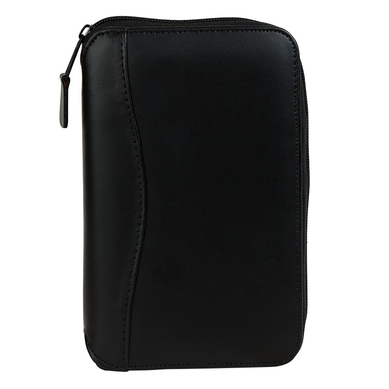 Pocket Planning System Vinyl Zipper Binder - Black