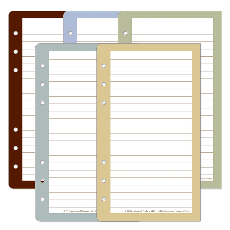 Pocket Color Wide Lined Pages