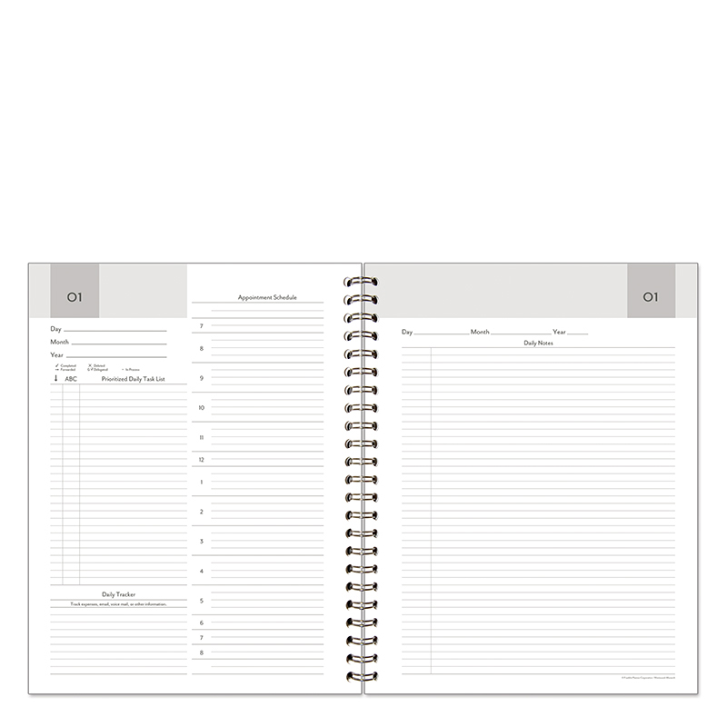 Monarch Wire-bound Compass Two-Page-Per-Day Flex-Dated Quarter Pack
