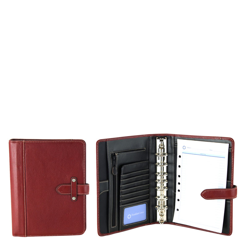 Classic Aurora Leather Binder - Red