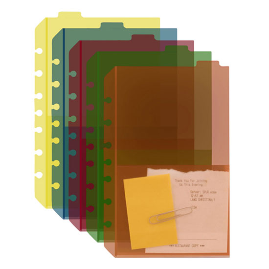 Classic Tabbed Divider Pockets (Set of 5)