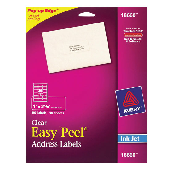 Easy Peel Clear Mailing Labels 10 Sheets