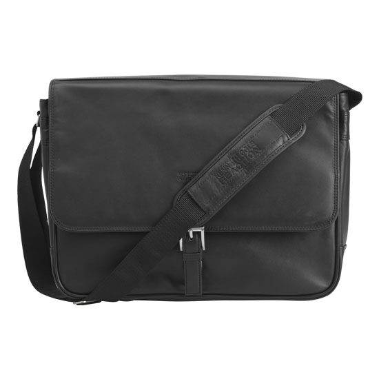 Reaction Kenneth Cole What A Bag! Leather Expandable Messenger Bag